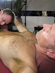 Daddy massages his boys prostate and..
