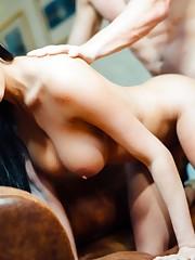 Brunette beauty Anissa Kate takes an..