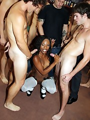 Tiny black whore Sarah Banks sucks 12..