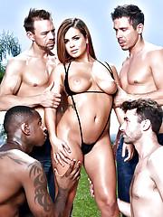 Hot pornstar Keisha liquidates bikini..