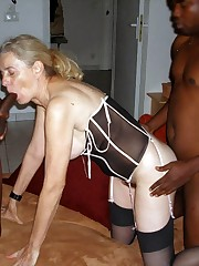 Cuckold and bi-racial porno pics with..