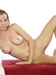 Blonde cougar Pristine Edge seduces her..