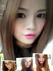 Captivating east teen girls take selfies