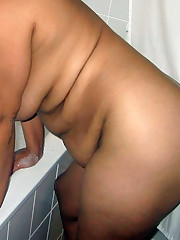 Horny naked black wives gulps stud..