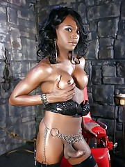Busty ebony transgender princesses..
