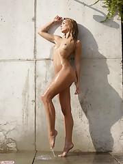 Amber in Outdoor Shower by Hegre-Art..
