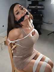 Bondage trussed up chinese dress -..