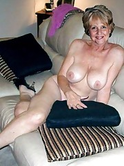 Killer and nearly naked mature lady..