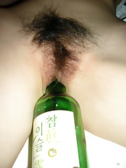 Gross Asian wife asleep in the bed,..