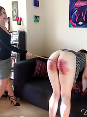 Severe English spanking mature welts