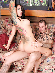 Hot tattooed duo suck and fuck -..