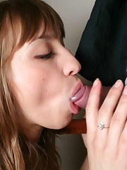 Face facial cum girl gives fellatios -..