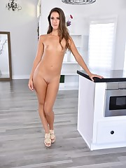 Energizing Tara Ashley disrobes khaki..