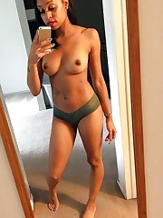 Busty ebony hotties take stripped to..