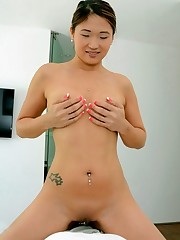 Chubby asian babe Nyomi Starlet getting..