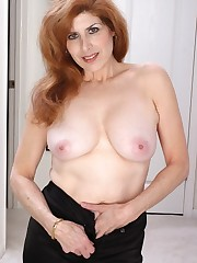 Uber-sexy mature ginger-haired opens up..
