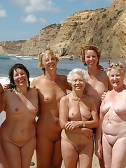 Some moms and grannies at the naturist..