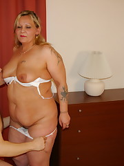 This fat mature bi-atch loves to get..