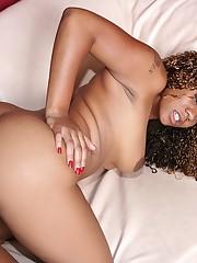 Persuajon deep throating huge afro cock..