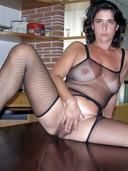 Big tits mature damsels open broad..