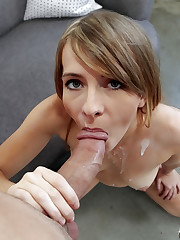 Kaylee Jewel takes money-shot in mouth..
