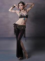 Women Tribal Fashion Belly Dance..