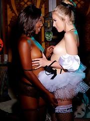 Bi-racial stunner Chanell Heart and..