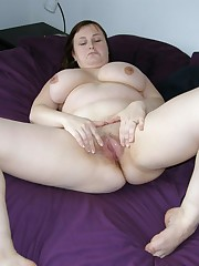 Sexy amateur BBW's pussy, handmade images