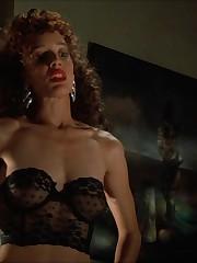 Jennifer Beals bare but adorned and..