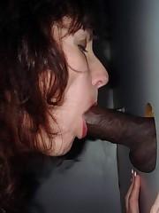 Ebony dick, interracial glory hole..