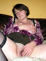 Busty plump Mummy in stockings brags of..