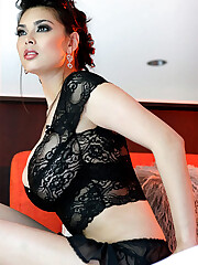 Super hot Japanese MILF in a laced..
