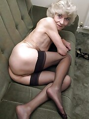 Totally bare grandmas at home pics