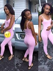 Little girl black gfs in tight fitting..