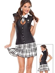 Night College Gal Costume - Halloween..