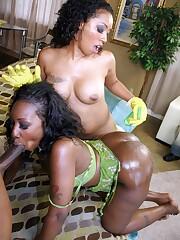 Successful fucker fuck 2 ebony beauties..
