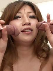 Amateur Chinese gives double blowage..