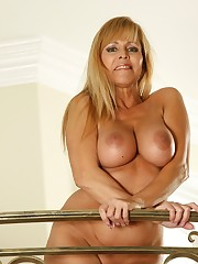 Huge-boobed Platinum-blonde MATURE
