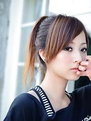 Asians, Taiwan, window panes, Mikako..
