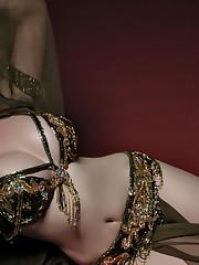 Arab gorgeous belly dance - Faggot..