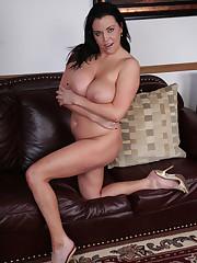 Angelica Sin: Huge-boobed brunette..