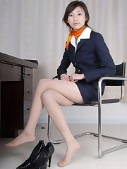 Japanese  Flight Attendant Beautiful..