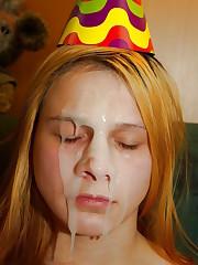 Finnest Blew their geyser on her face..