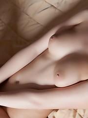 Обои nikia, girl, brunette, nude,..