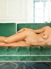 Wallpaper download girl, lies, sofa,..