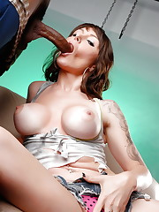 Sexy enormous boob milf blowjob - Pics..