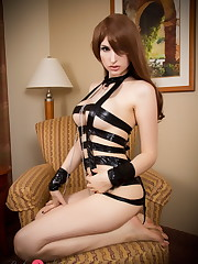 Naughty wild Bailey Jay in restrain..