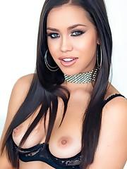 Glam Latina-American Alina Lopez sports..