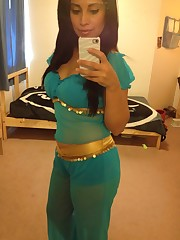 Latina Arabian princess costume Enjoy..