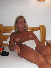 Amateur mature nymphs in white..